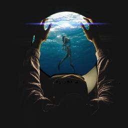 freetoedit window ocean swimmer_girl lenflare