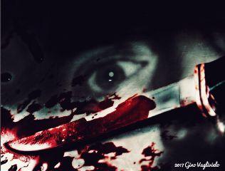 freetoedit horror knife blood portrait