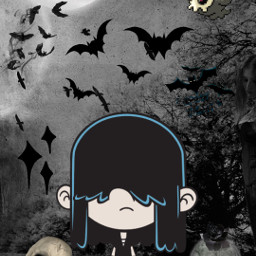 lucyloud halloween spooky gothgirl gothic freetoedit