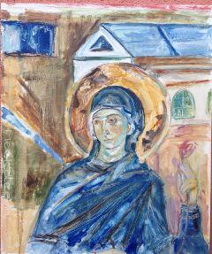 mother_of_god bogorodica mileseva manastir reprodukcija