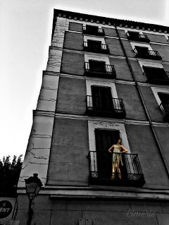 madrid urban urbanart blackandwhite colorsplash