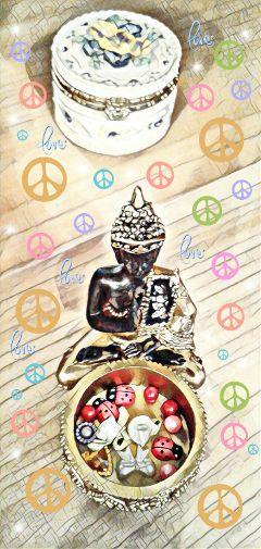 buddha peace love myphoto hearts