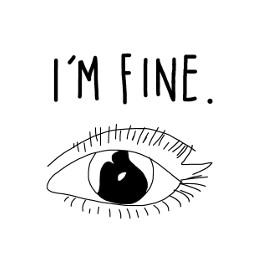 imfine art sketched eye sad freetoedit