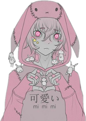 Kawaii Anime Boy Animeboy Habit Pink Gray