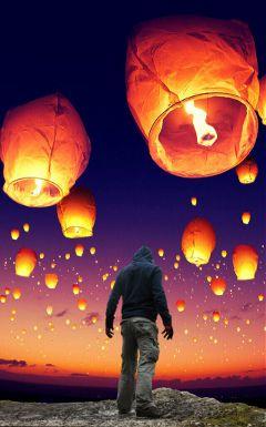 man lantern surreal surrealist myedit freetoedit