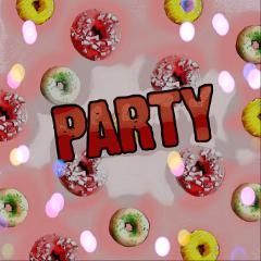 freetoedit dailystickerremix dailysticker party donuts