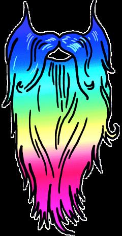 ftebeards beards rainbow colorful freetoedit