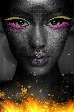 freetoedit ortoneffect shine woman sparkle