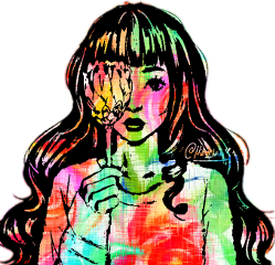 hibatan flowers flowerchild cute girl freetoedit