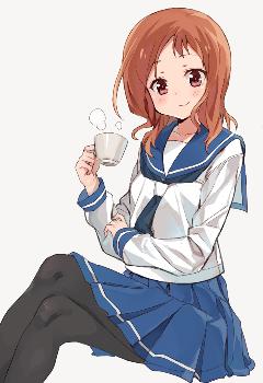 animegirl alone kawaii coffee emotions