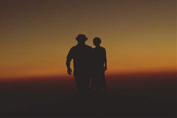 sunset people sky sunlight siluet