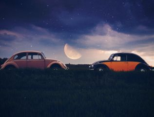 freetoedit yesi_502 madewithpicsart clasiccars moonlight
