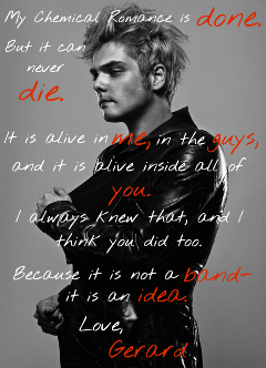 quote saying sassking gerardway mychemicalromance