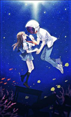 freetoedit fish galaxy animegirl animeboy