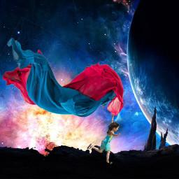 fabricstickerremix kite free galaxy happy freetoedit