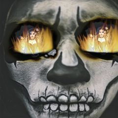 freetoedit myedit skull fire woman