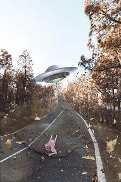 freetoedit remixit ufo man crackedroad ftestickers