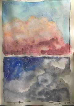 mypainting watercolor myart clouds