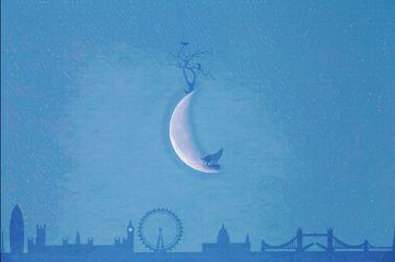 moon london wolf tree shilouette freetoedit