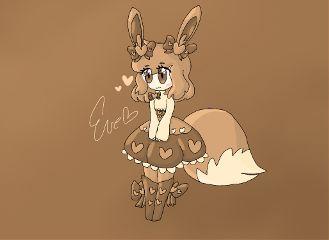 pokemon cute interesting art brown