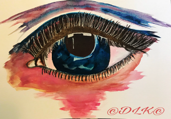 art drawing painting eye blue