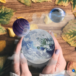 freetoedit planets galaxy hands leavs
