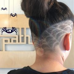 freetoedit spiderweb shavedneck neckshave haircut