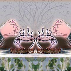 freetoedit crushedmarble coffee mirroreffect
