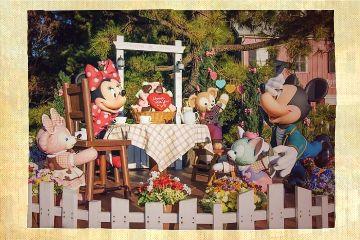 freetoedit disney mickey minnie garden