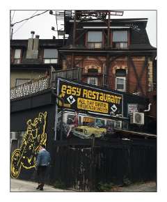 toronto restaurant neighborhood walk signs
