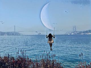 freetoedit dailyremix myedit moon sea