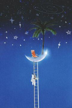 moonremix moon ladder astronaut space freetoedit