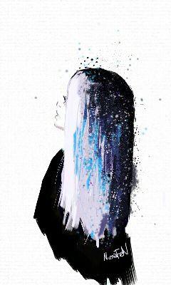sketch galaxy paint girl digitalpainting freetoedit