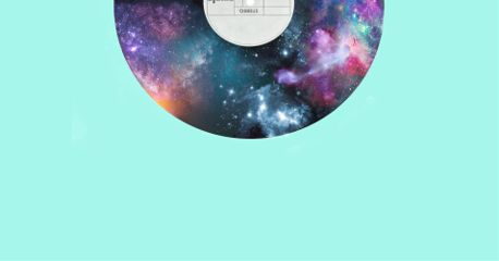 galaxy record disc light stars