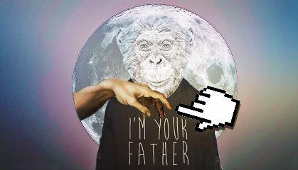 modernartstickerremix freetoedit humour monkey