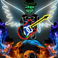freetoedit mysic record neon vinylremix