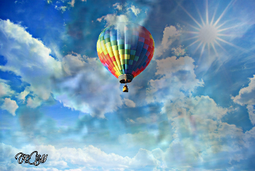 clouds image myedit airballoon sky