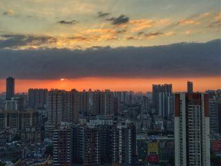 city sunset photography