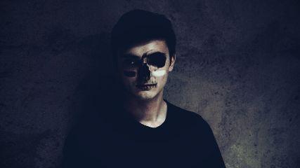 freetoedit halloween makeup interesting skull
