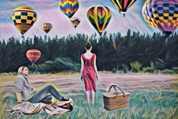 ladyinredremix freetoedit dailyremix hotairballoons picnic