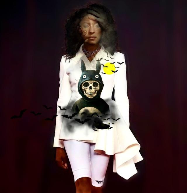 #fundfairvip #fundfairfaces #girl #woman #skull #bats #smoke #hands #creepy #model #manipluate  #pa #picsart