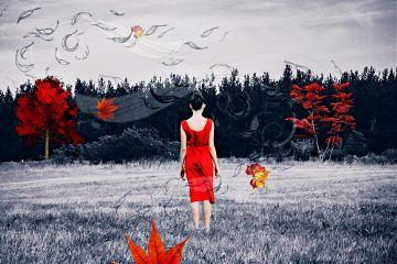 ladyinredremix freetoedit autumn winter edit