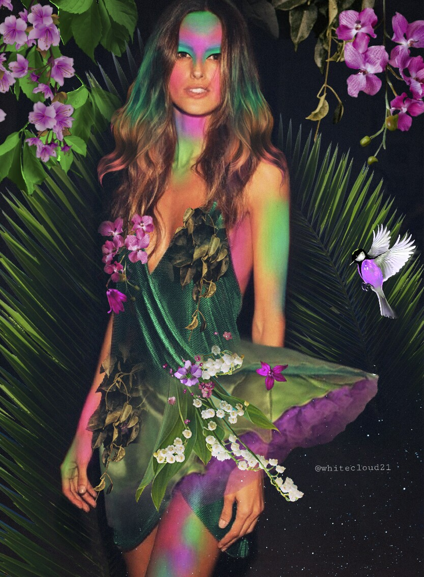 #fundfairvip #fundfairfaces #myedit #fairy #halloween2017 #madebyme #madewithpicsart #green #nature #myart #beautiful #lilac #flowers #naturefairy #mothern