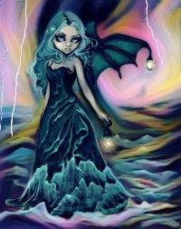 freetoedit darkart stormynight lightning batgirl