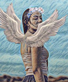 freetoedit wings angel beauty flowercrown