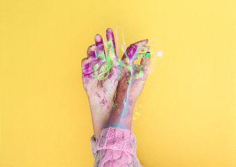 freetoedit hands glitch interesting art