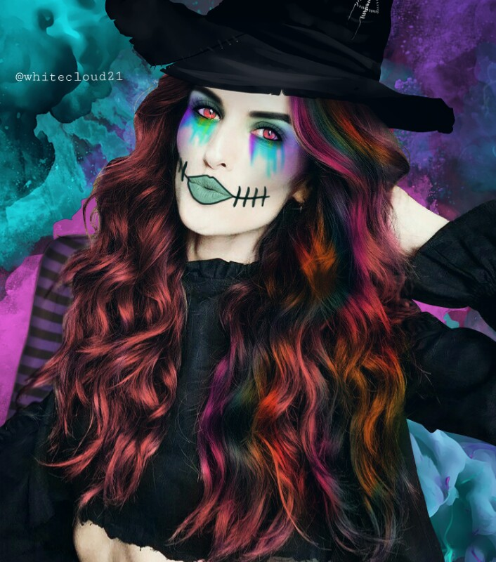 Make-up made by me using drawing tools #fundfairvip #fundfair #halloween2017 #madewithpicsart #witchcostume #myart #drawing #editedbyme @pa