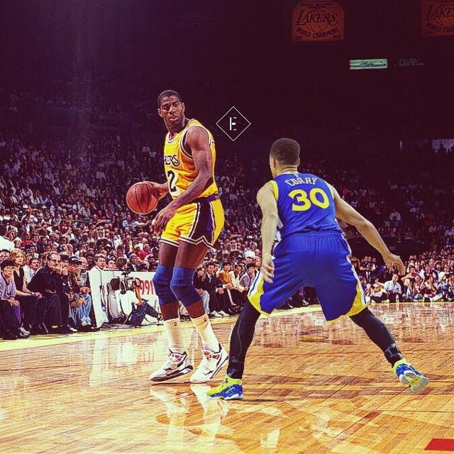 Magic Johnson vs Stephen Curry #madewithpicsart #freetoedit #california #usa #nba #basketball #picsart #art #nbaedits #design #today #friday #sports #f4f #follow4follow