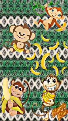 freetoedit monkeys mamamacpic dailysticker