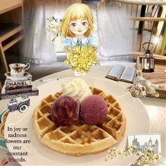 waffle icecream dessert delicious